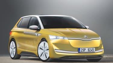 """斯柯达电动汽车范围与""""Felicia e""""舱口和轿跑车 -  SUV成长2020"""